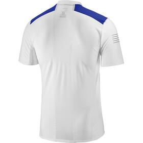 Salomon Fast Wing Løbe T-shirt Herrer blå/hvid
